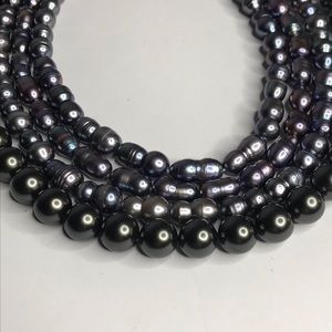 Jewelry - (4) Strands Beads Pearls for Crafting Black